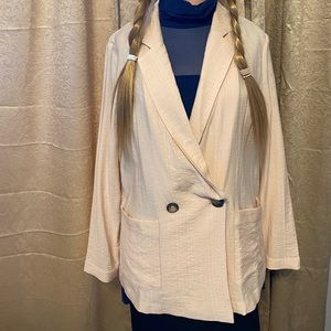 MWT Cotton Blend Lush Oversized Light Blazer